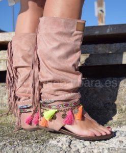 sandalia bota que barbara