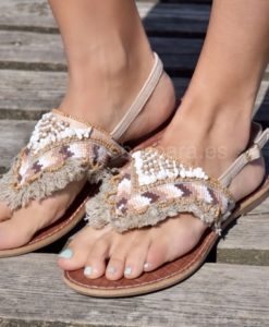 sandalias planas que barbara