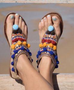 sandalias etnicas que barbara