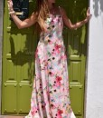 vestido largo flores que barbara