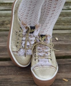 zapatillas doradas que barbara