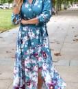 vestido raso flores que barbara