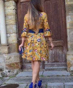 vestido mostaza azul que barbara