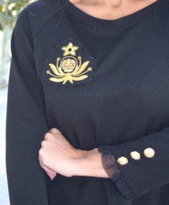 vestido militar que barbara