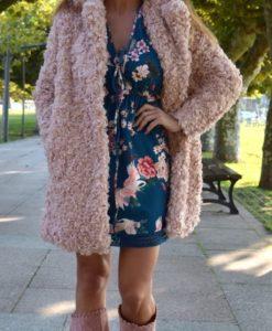abrigo rosa que barbara