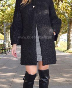 abrigo negro que barbara