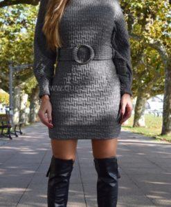 vestido gris que barbara