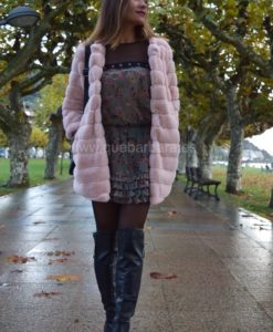 abrigo furry rosa que barbara