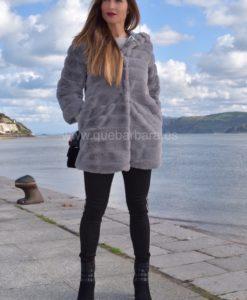 abrigo gris pelo que barbara