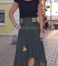 falda asimétrica que barbara