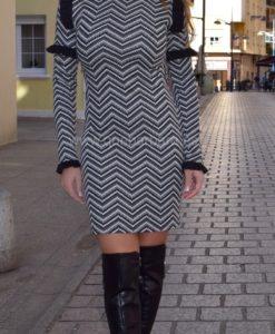 vestido geometrico que barbara