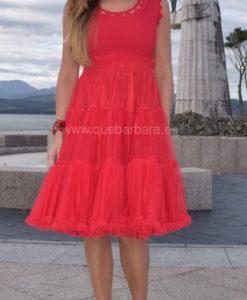 vestido rojo que barbara