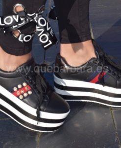 sneakers plataforma que barbara