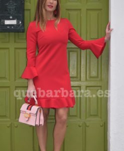 vestido rojo ceremonia que barbara