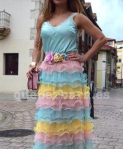 falda larga colores que barbara