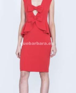 vestido ceremonia rojo que barbara
