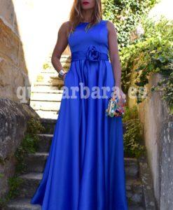 vestido azul klein que barbara