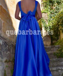 vestido largo azul que barbara