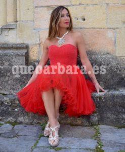 vestido rojo tull que barbara