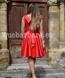 vestido corto rojo ceremonia que barbara