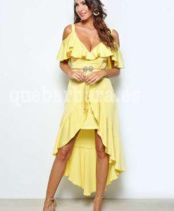 vestido amarillo que barbara