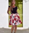 vestido falda flores que barbara