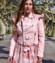 cazadora rosa que barbara