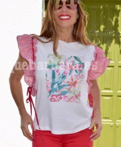 camiseta flores que barbara