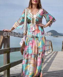 vestido largo tropical que barbara