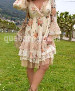 vestido romántico encaje que barbara
