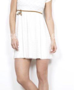 vestido encaje blanco que barbara