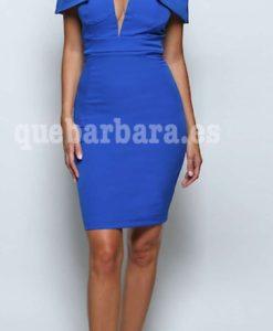 vestido corto azul que barbara