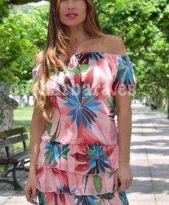vestido estampado tropical que barbara