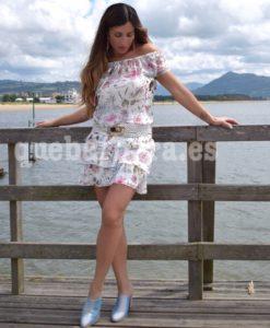 vestido falda volantes que barbara