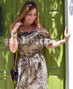 vestido leopardo que barbara