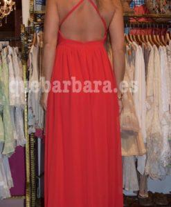 vestido escote espalda ceremonia que barbara