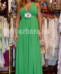 vestido ceremonia verde que barbara