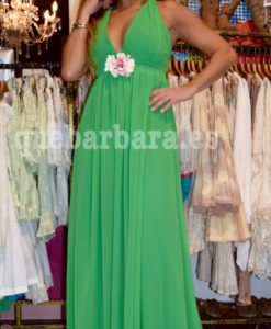 vestido largo verde que barbara