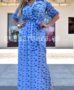 vestido gasa azul que barbara
