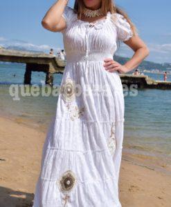 vestido blanco largo que barbara