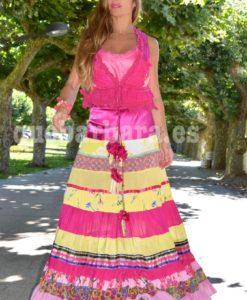 falda multicolor que barbara