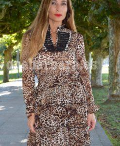 vestido volantes leopardo que barbara