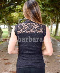 blusa negra encaje que barbara