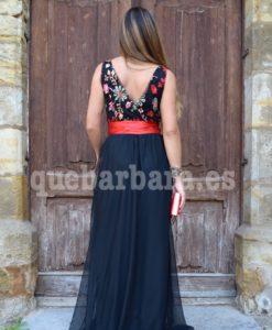vestido ceremonia largo negro que barbara