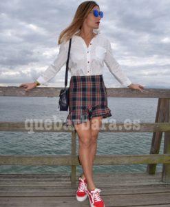falda escocesa que barbara