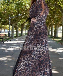 maxi dress leopardo que barbara