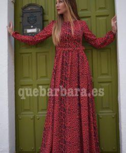vestido largo rojo que barbara