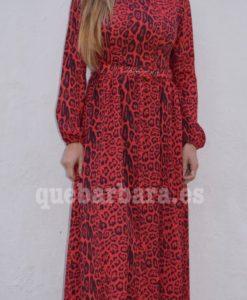 vestido largo leopardo que barbara