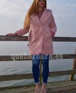 abrigo borreguito rosa que barbara