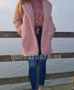 abrigo rosa borreguito que barbara
